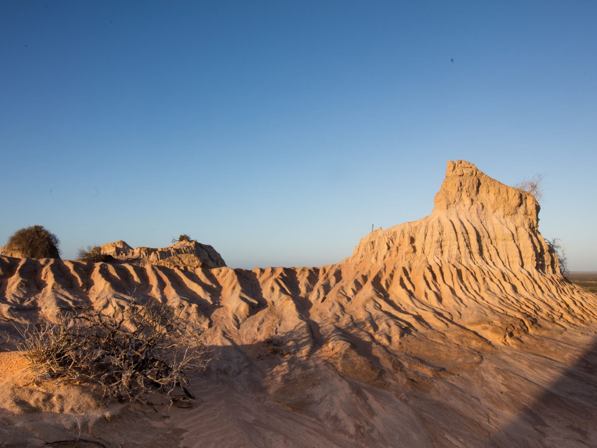 Outback desert sand formations at Walls of China, Mungo National Park. Photo: Vision House Photography/DPIE