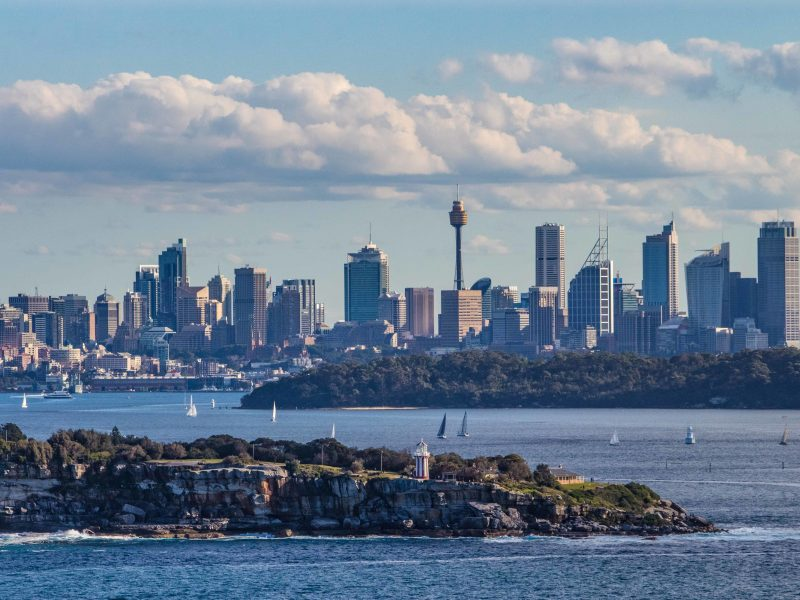 South Head with Sydney CBD in the background.