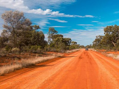 Red dirt road near Dry Tank picnic area in Gundabooka National Park