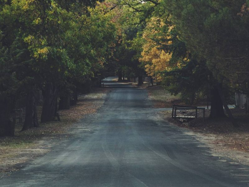 Road leading to Hill End Historic Site. Photo: DPIE