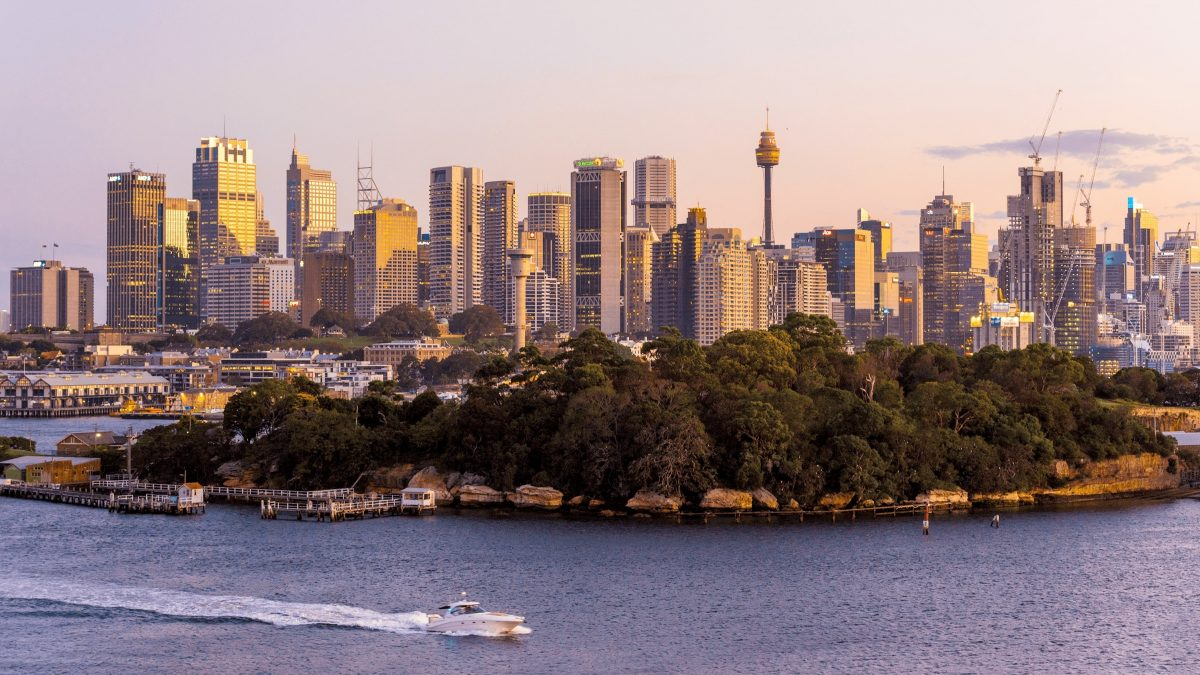 Goat Island with Sydney tower in the background