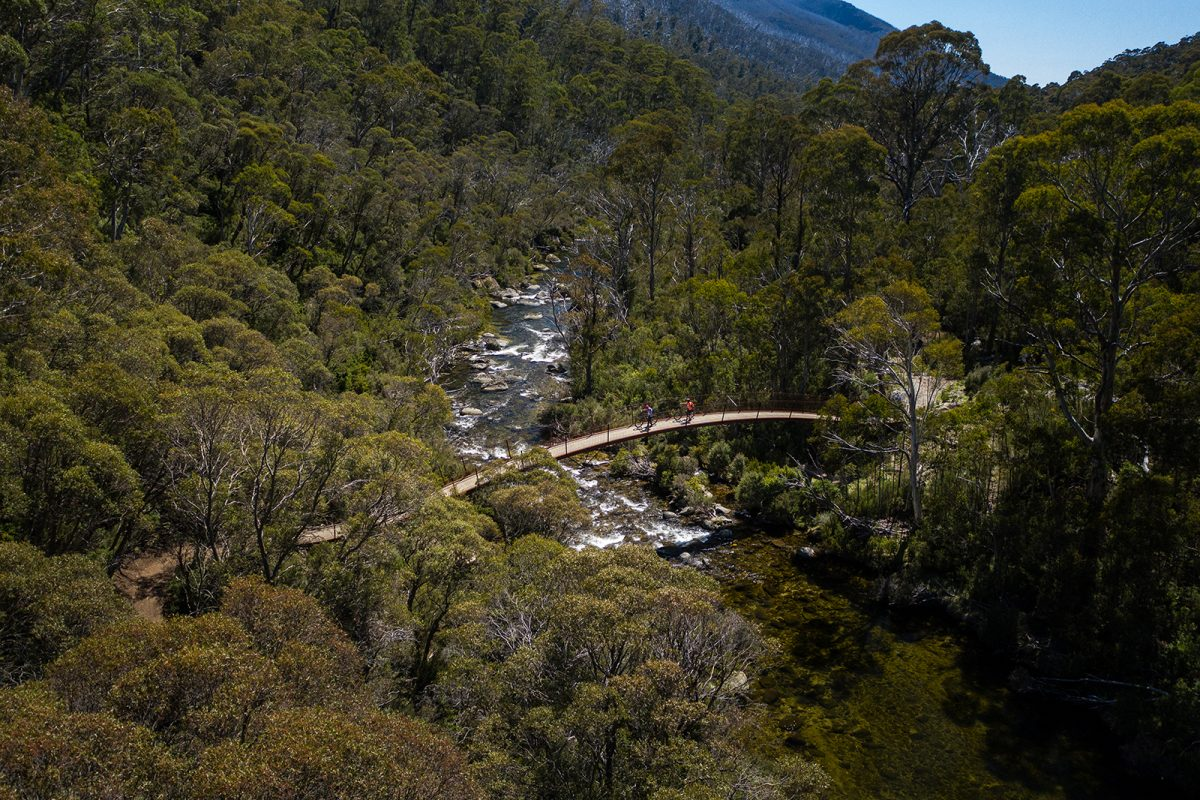 Aerial view of Bridge 5, Thredbo Valley Track