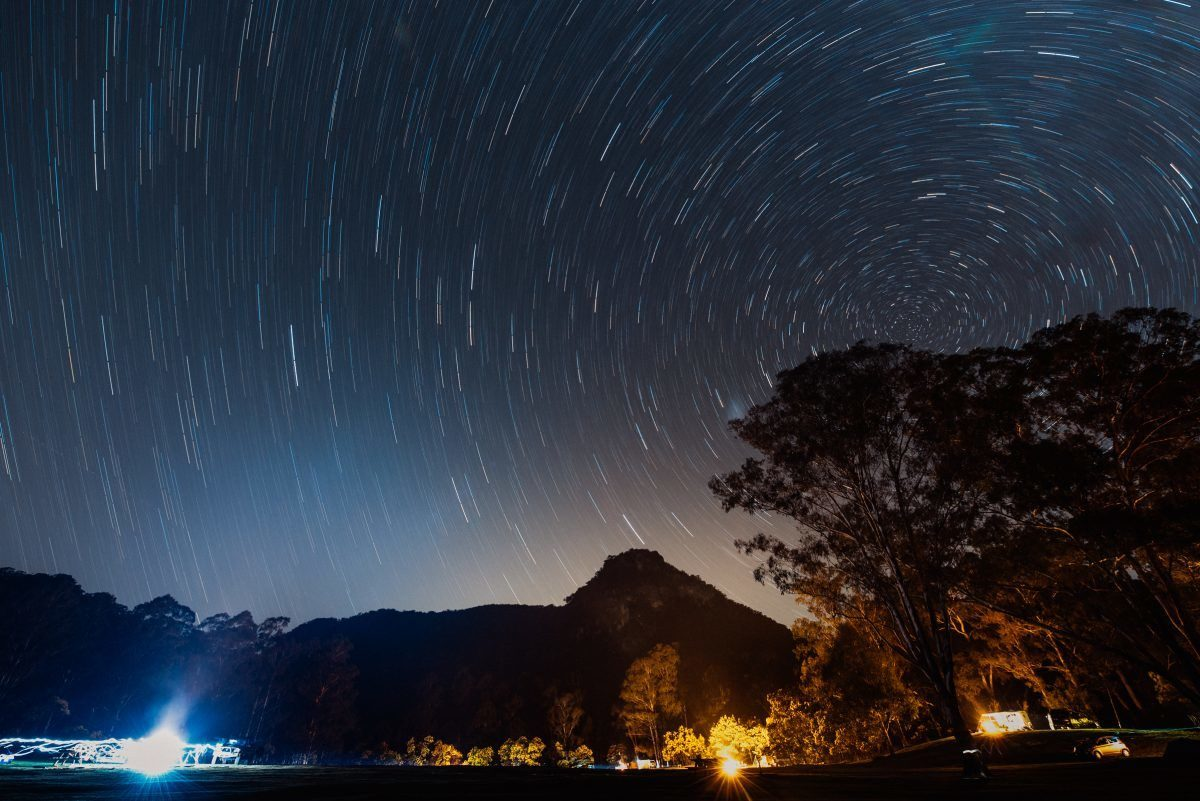 Campground under the stars in a NSW national park. Photo: Adrian Mascenon