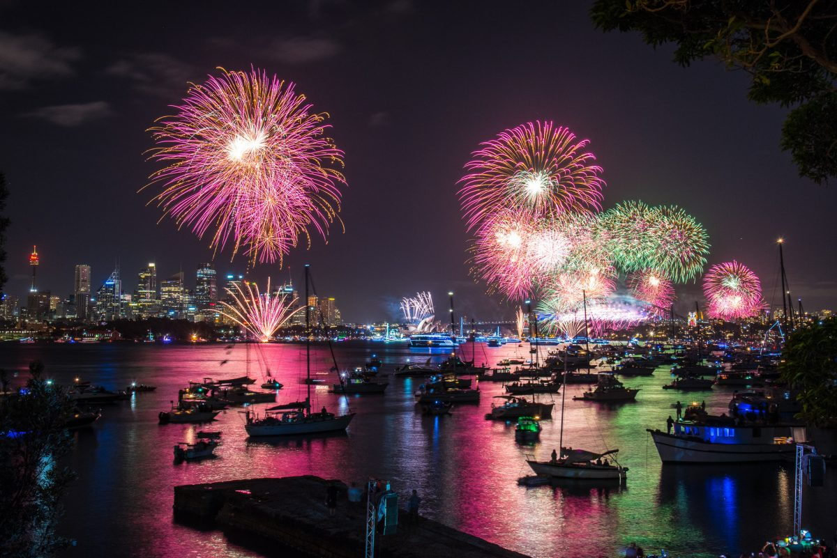 New Year's Eve fireworks over Sydney Harbour