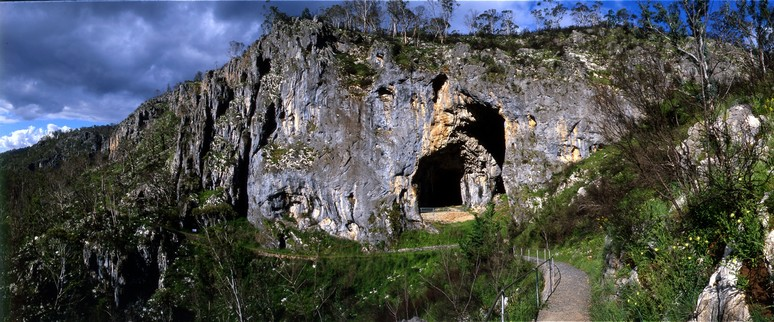 Glory Arch on Castle Walk by Yarrangobilly River near Yarrangobilly Caves.
