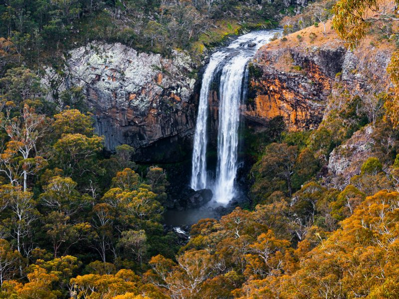 Ebor Falls in Guy Fawkes River National Park. Photo: Liam Hardy