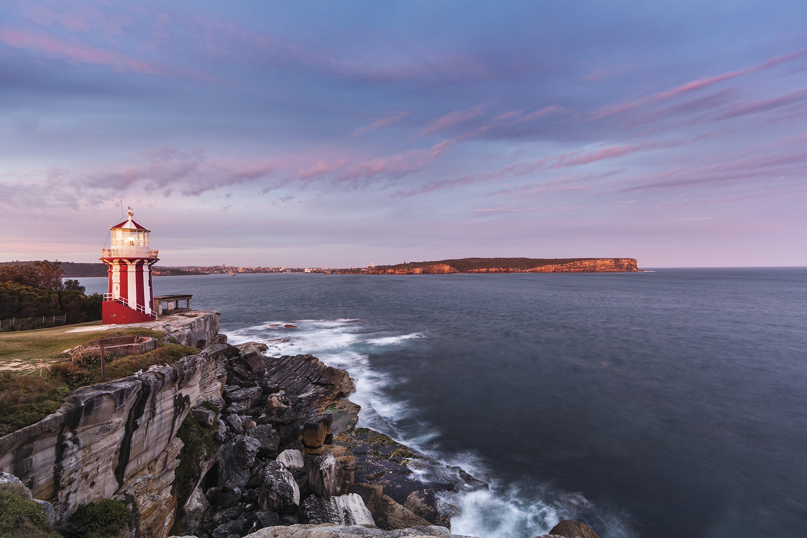 Sunrise view from Hornby Lighthouse at South Head, Sydney Harbour National Park. Photo: David Finnegan/DPIE