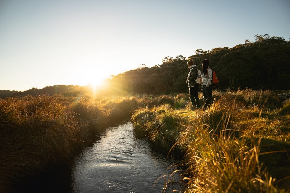 Exploring Junction Pools campground in Barrington Tops National Park. Photo: Rob Mulally/OEH