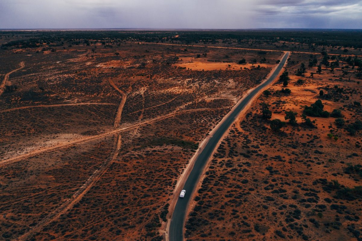 Driving in Mungo National Park. Photo: Melissa Findley/OEH