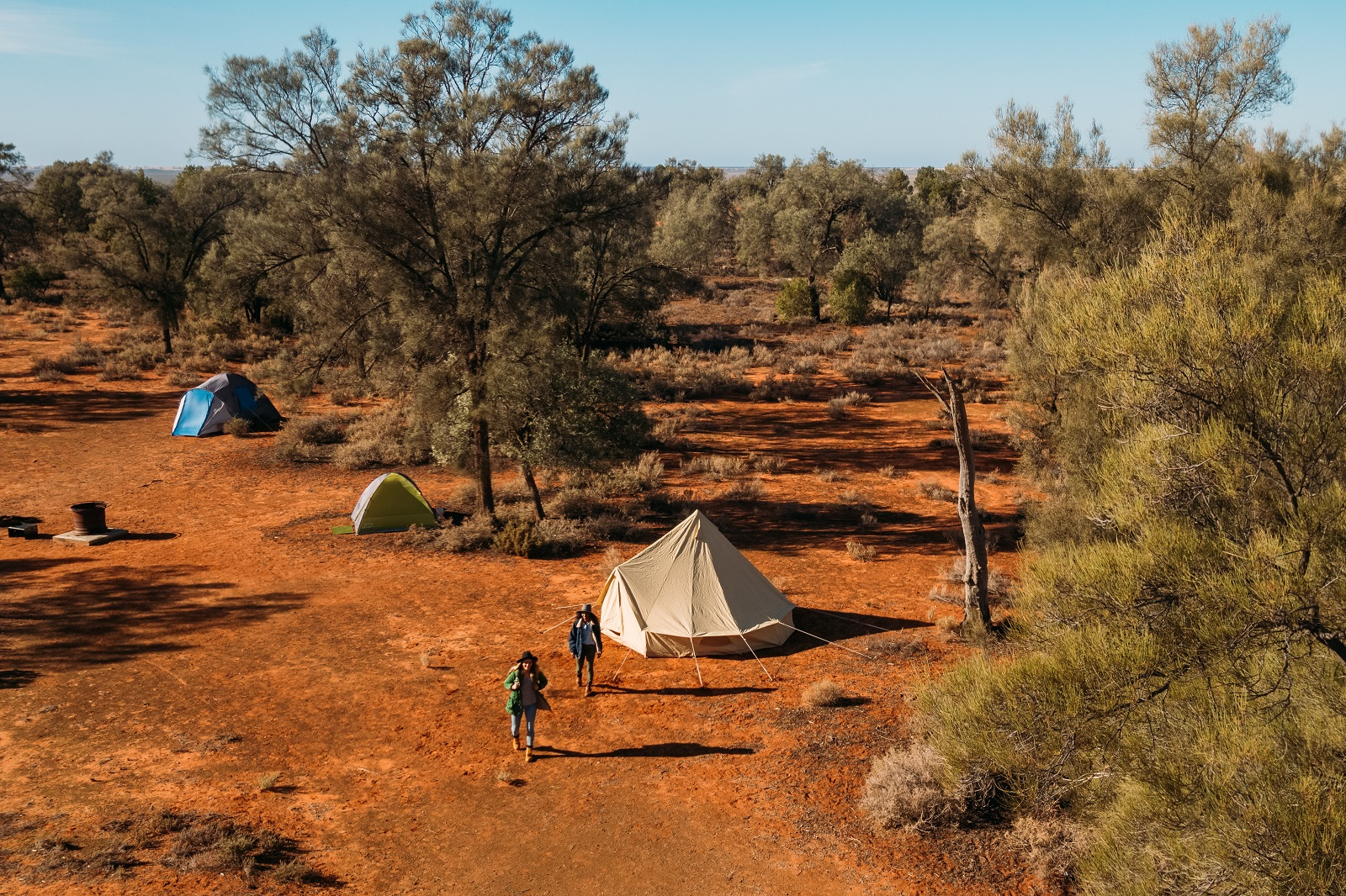 Aerial view of a campground in Mungo National Park. Photo: Melissa Findley/OEH