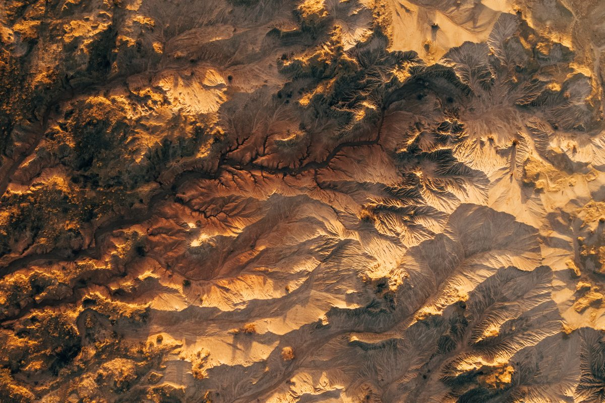 Aerial view of the Walls of China, Mungo National Park
